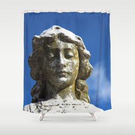 An Angel of Grieving  Shower Curtain