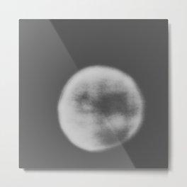 black and white orb Metal Print