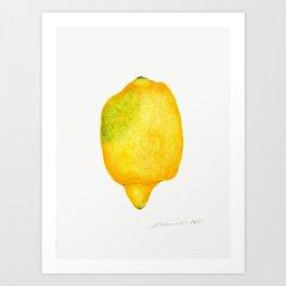 Fresh Lemon Watercolor Art Print
