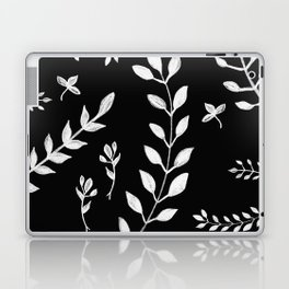 White Leaves Pattern #3 #drawing #decor #art #society6 Laptop & iPad Skin