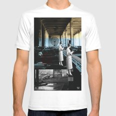 placing an objective far away from cover Mens Fitted Tee White MEDIUM