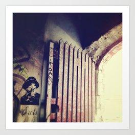Inside the Gate. Art Print