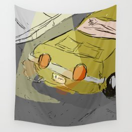 Poorly Drawn Car Wall Tapestry