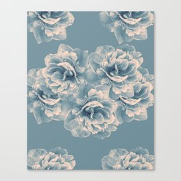 Blush Blue Peony Flower Bouquet #1 #floral #decor #art #society6 Canvas Print