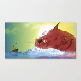 Big Catch Canvas Print