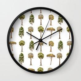 Tree Pattern Wall Clock