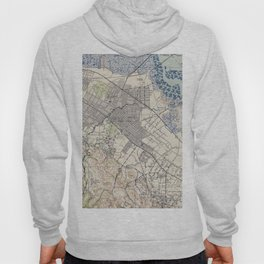 Old Map of Palo Alto & Silicon Valley CA (1943) Hoody