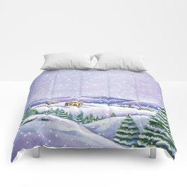 A purple winter's night Comforters