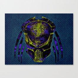 Soldier Predator Blue Yellow Canvas Print
