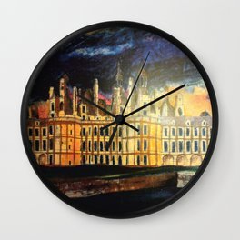 Chambord Chateau – Romantic France Wall Clock