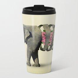 Inner Rose Elephant Metal Travel Mug