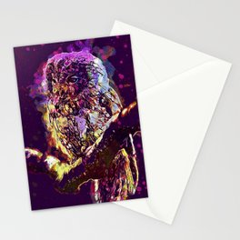Modern Owl in a Tree Stationery Cards