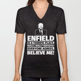 Enfield Funny Gifts - City Humor Unisex V-Neck