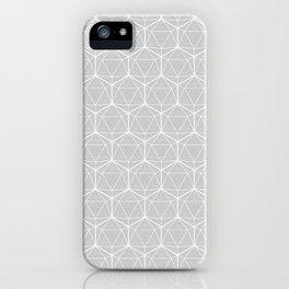 Icosahedron Soft Grey iPhone Case