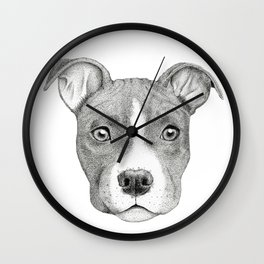 Staffordshire Terrier Dog Wall Clock