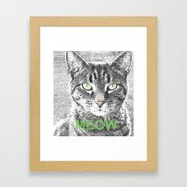 MEOW - 1 Framed Art Print