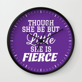 Little & Fierce (Purple) Wall Clock