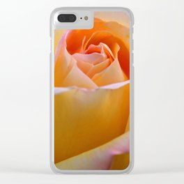 Peace Rose Clear iPhone Case