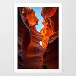 SAND & SKY ANTELOPE CANYON ARIZONA PHOTOGRAPHY Art Print