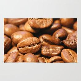 Roasted coffee beans macro Rug