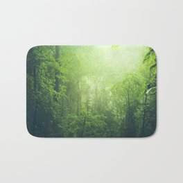 Lush Green Forest Bath Mat