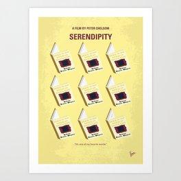 No981 My Serendipity minimal movie poster Art Print