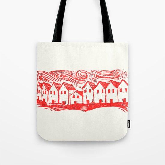 Sad Row (Red) Tote Bag