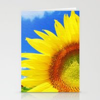 sunflower Stationery Cards featuring SUNFLOWER by Ylenia Pizzetti