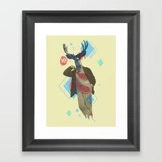 Yo! Deer Man Framed Art Print