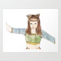 Kate Nash Art Print