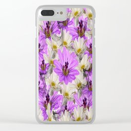 Floral Circle Abstract Clear iPhone Case
