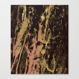 Rose gold & gold marbled Canvas Print