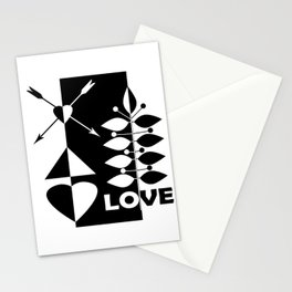 Scandinavian black and white abstract pattern . Stationery Cards