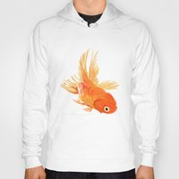 goldfish Hoodies featuring Goldfish by Tyler