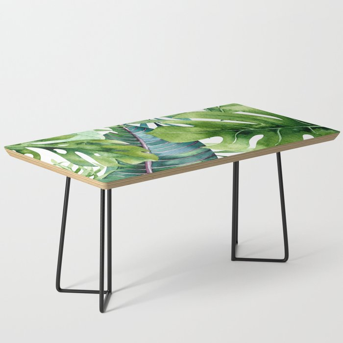 Tropical Jungle Leaves Coffee Table