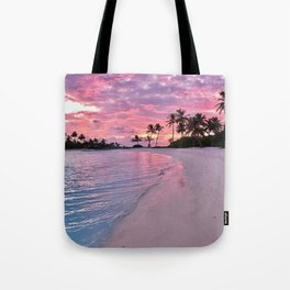 SUNSET AND PALM TREES Tote Bag