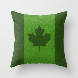 Grass flag Canada / 3D render of Canadian flag grown from grass Throw Pillow