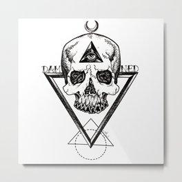 Damned Skull Metal Print