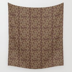 Chocolate Butterflies Wall Tapestry