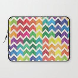 Watercolor Chevron Pattern IV Laptop Sleeve