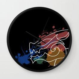 Black Dragon Art Wall Clock