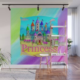 Colorful Princess Castle Wall Mural