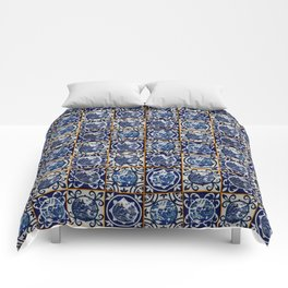 Blue Willow Tiles Comforters