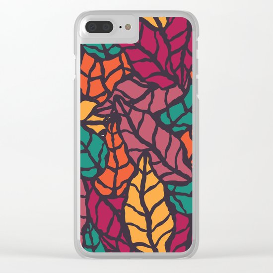 Nature leaves 005 Clear iPhone Case