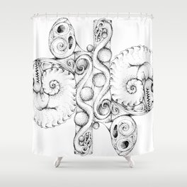 A Dragon Life Cycle Shower Curtain