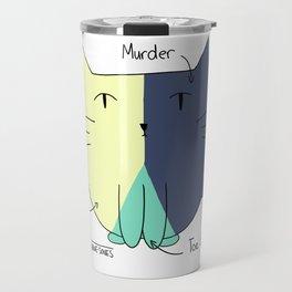 Cat Pie Chart Travel Mug