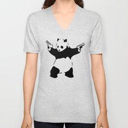 Panda, Banksy, Graffitti Unisex V-Neck