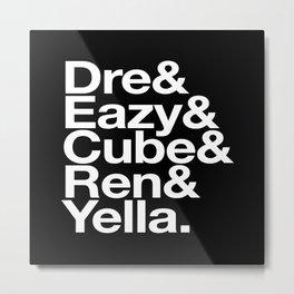 Straight Outta Helvetica Metal Print