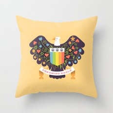 Dreaming (not Screaming) Eagle Throw Pillow