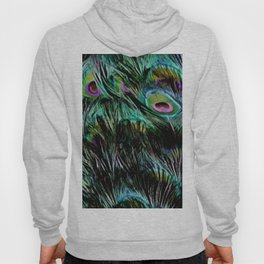 Soft and Fluffy Colorful Peacock Feathers Hoody